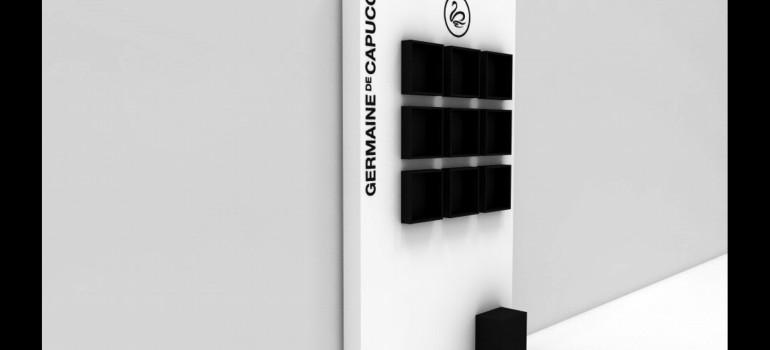 Mobiliario para Germaine de Capuccini: Expositor simple