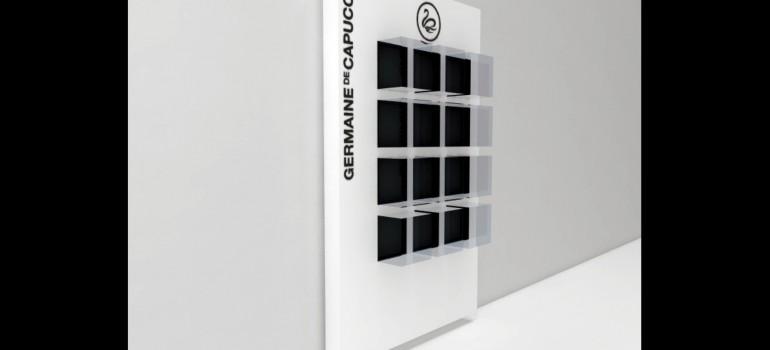 Mobiliario para Germaine de Capuccini: Expositor pared