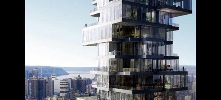 Rascacielos de cajas apiladas