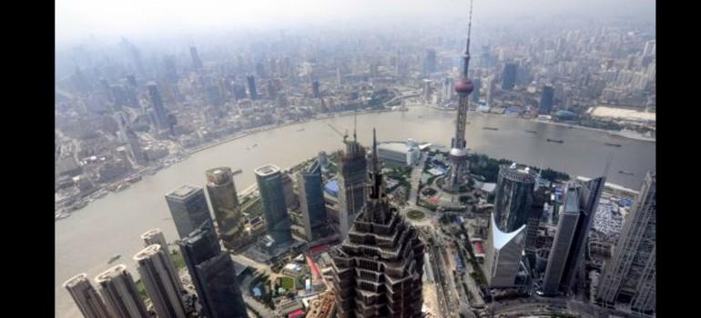 Las vistas a mayor altura de Shanghai