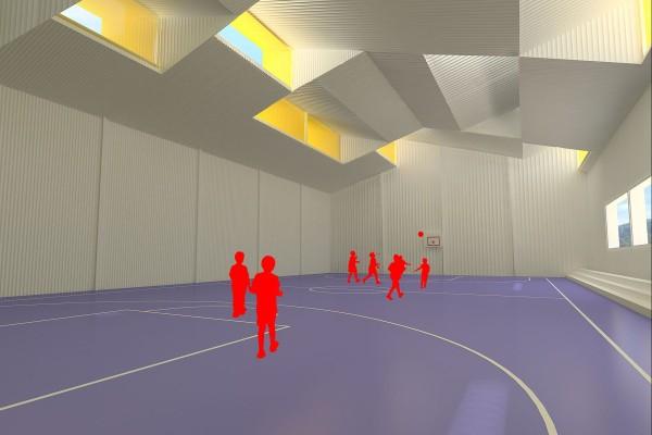 Interior Pabellón deportivo colegio Sant Antoni