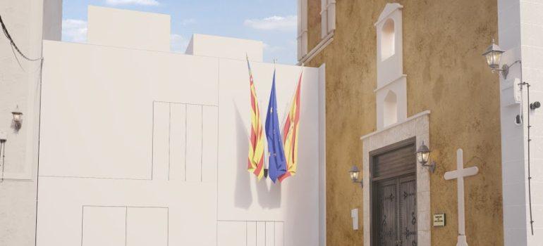 La imagen del nuevo Ayuntamiento de Famorca.